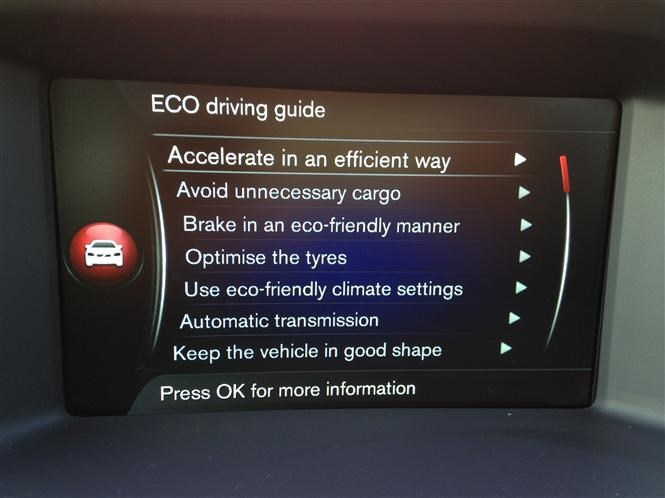 Volvo V60 Eco driving guide