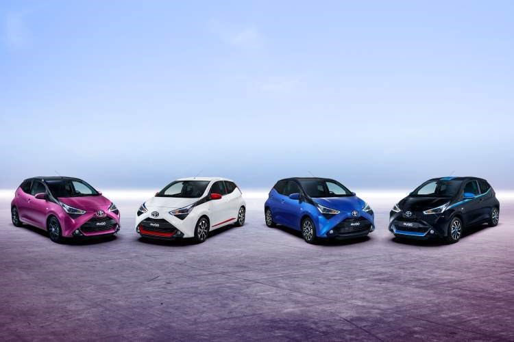 The 2018 Toyota Aygo range is a colourful one