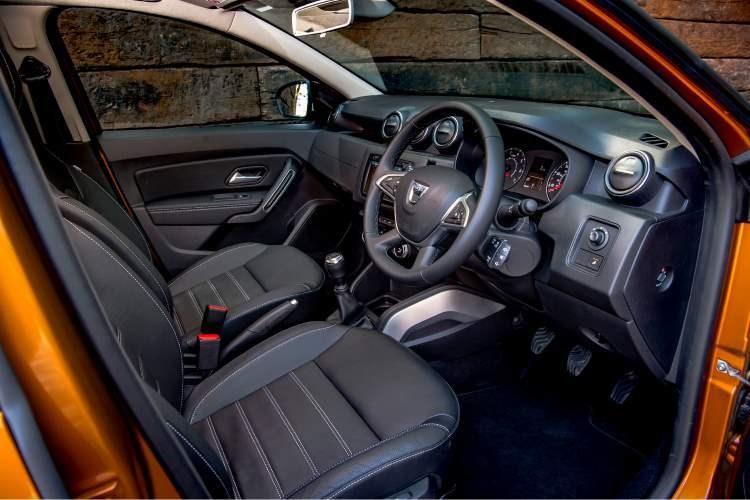 The interior cabin of the 2018 Dacia Duster