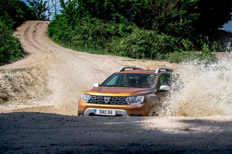 The Dacia Duster is capable of wading through water other small SUVs can't