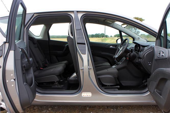 Vauxhall Meriva doors twin test