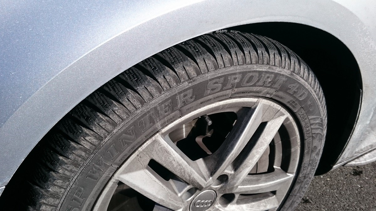 Audi A4 on winter tyres