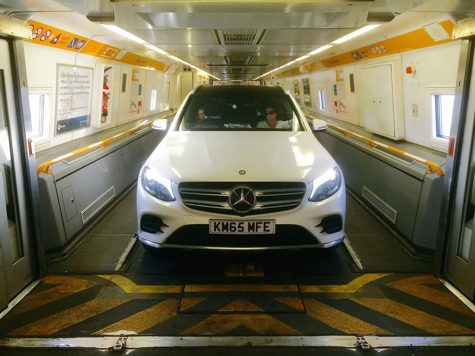 Our Mercedes-Benz GLC on a Eurotunnel carriage