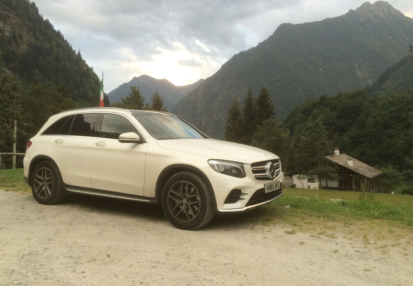 Mercedes-Benz GLC in the Aosta Valley, Italy