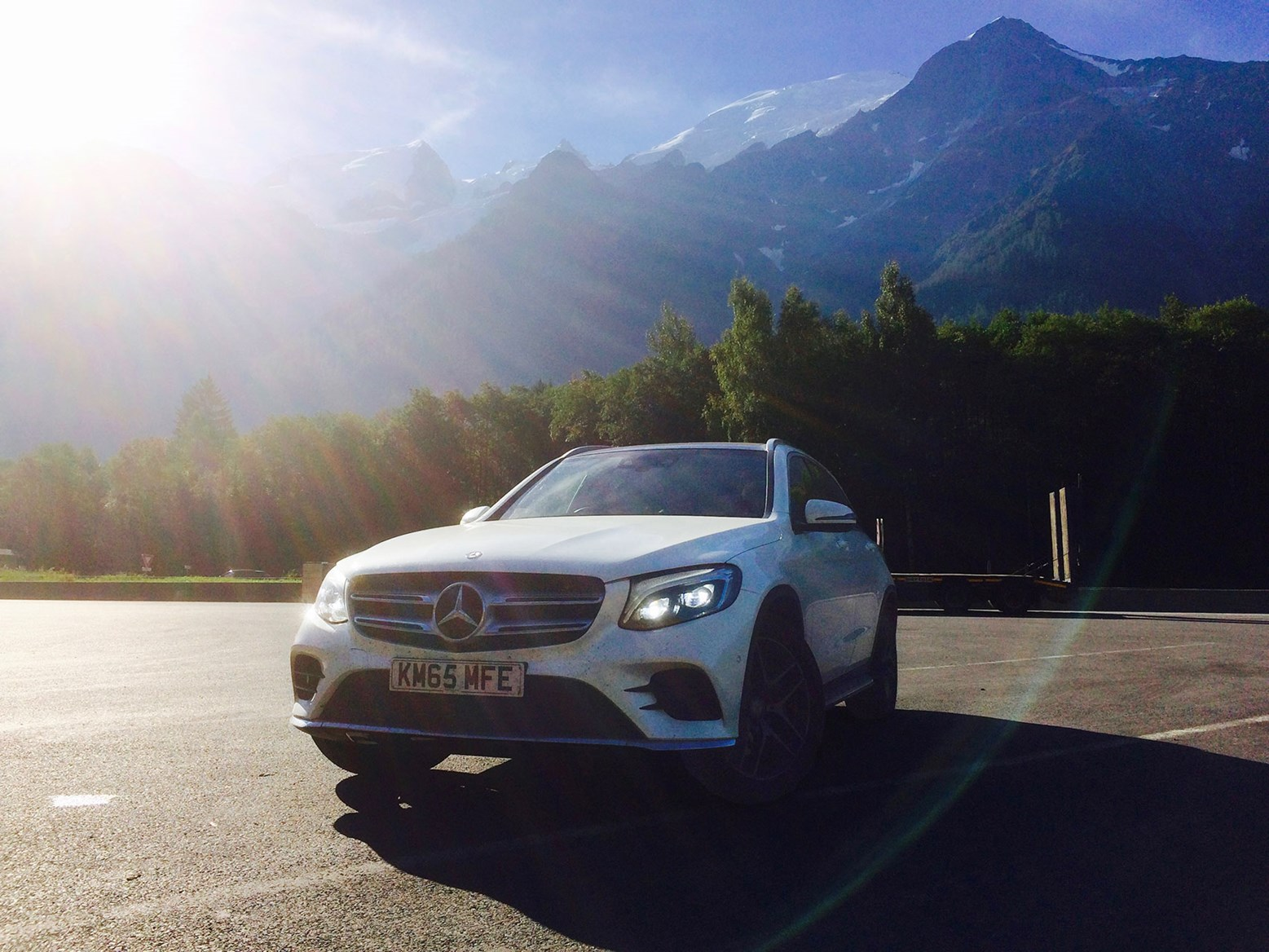 Standing in the shadow of Mont Blanc: our Merc GLC