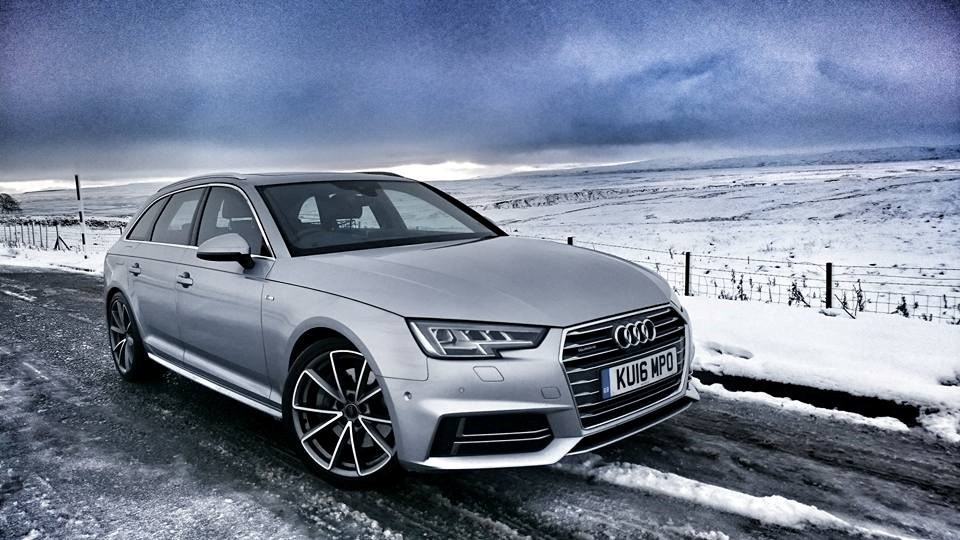 Audi A4 Avant on winter tyres