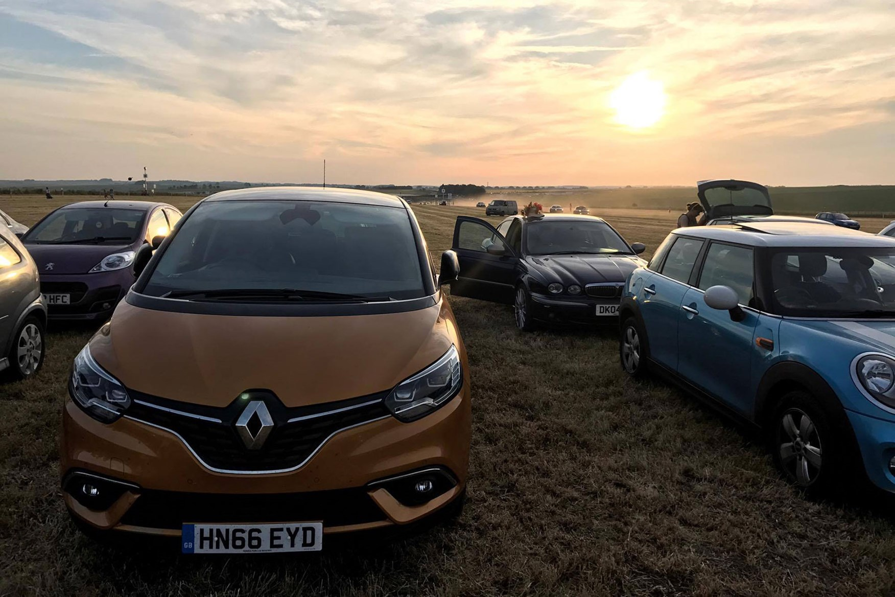 Renault Scenic long-term test - parked up near Stonehenge on the longest day of the year