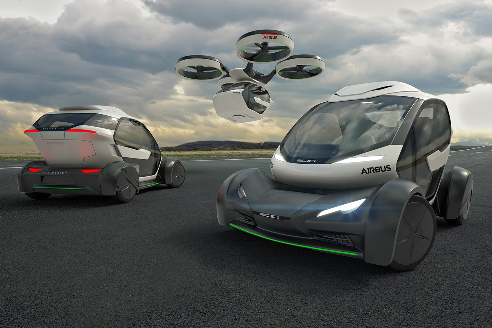 Pop.Up by Airbus and Italdesign driverless car