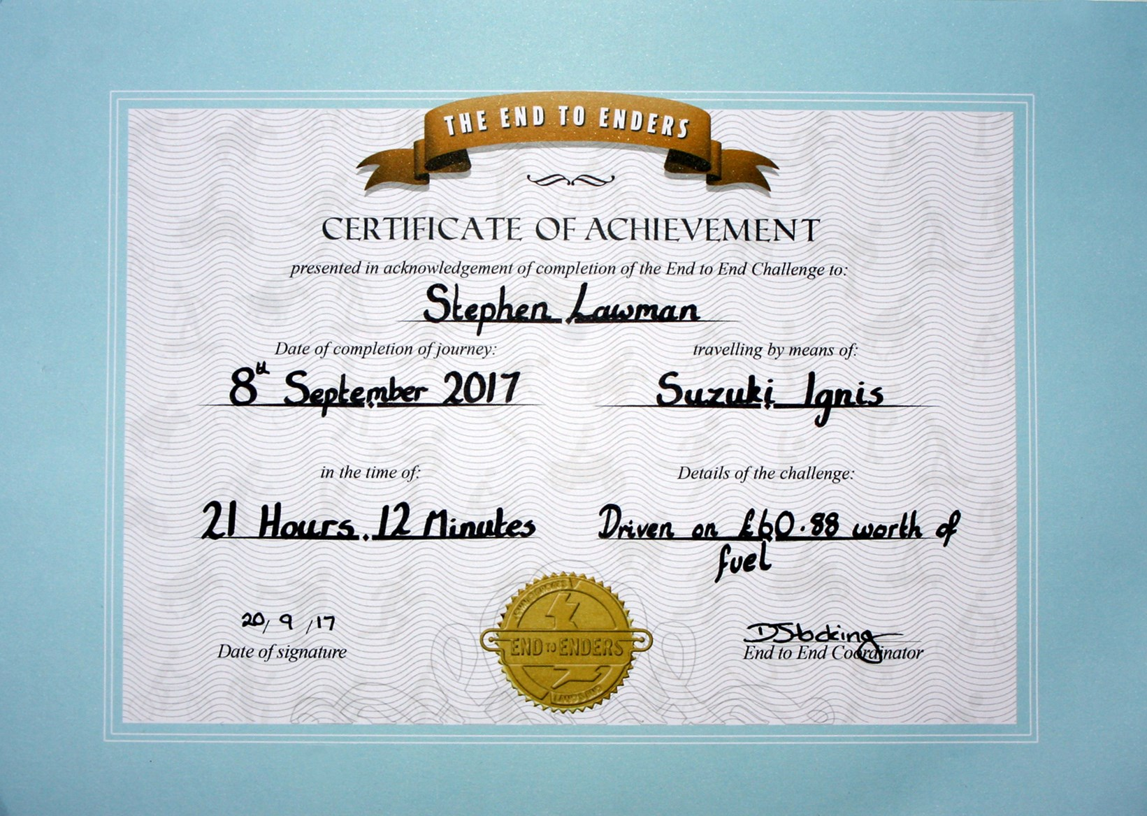 Ignis Certificate
