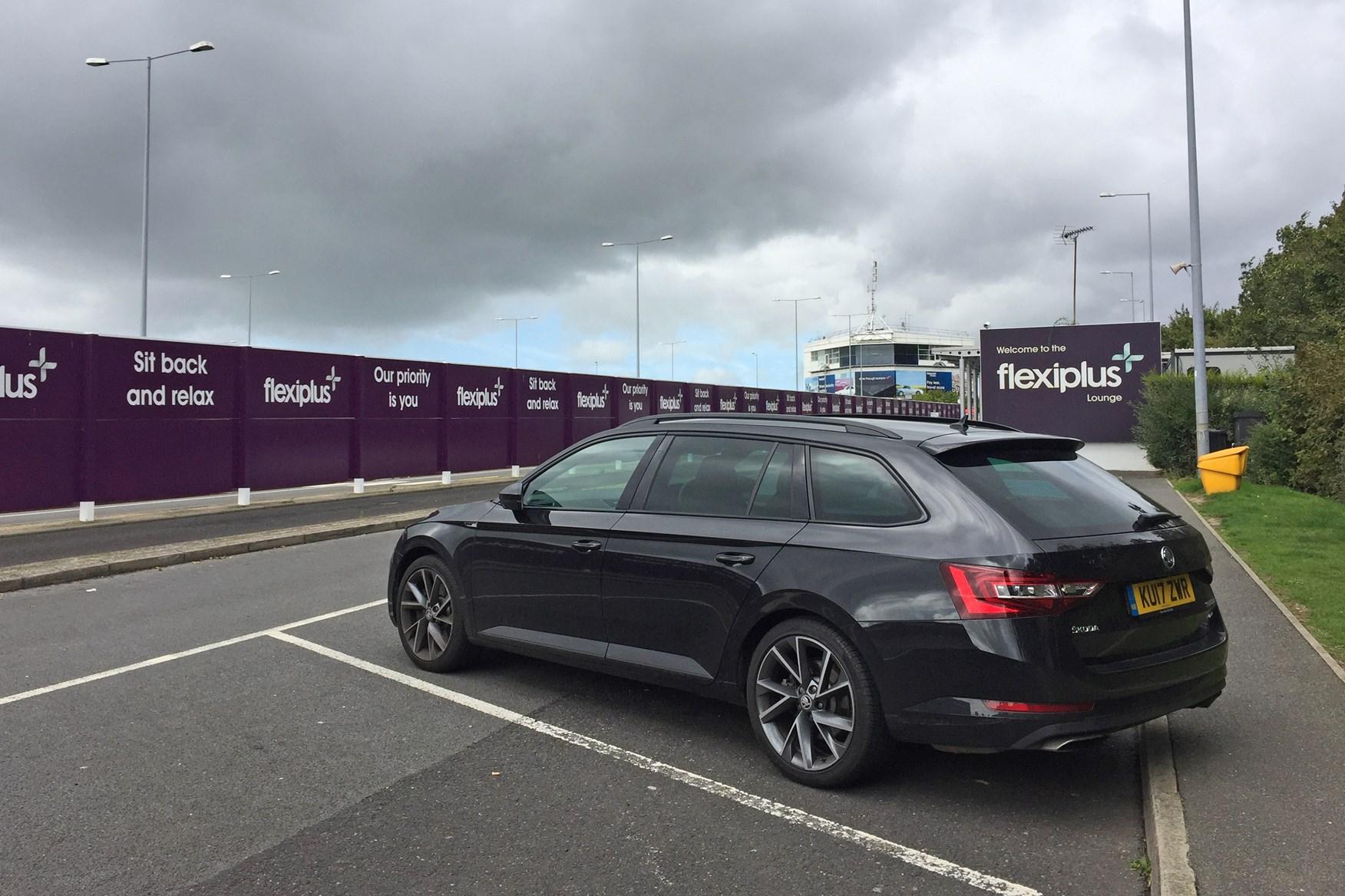 Skoda Superb Estate at the Channel Tunnel