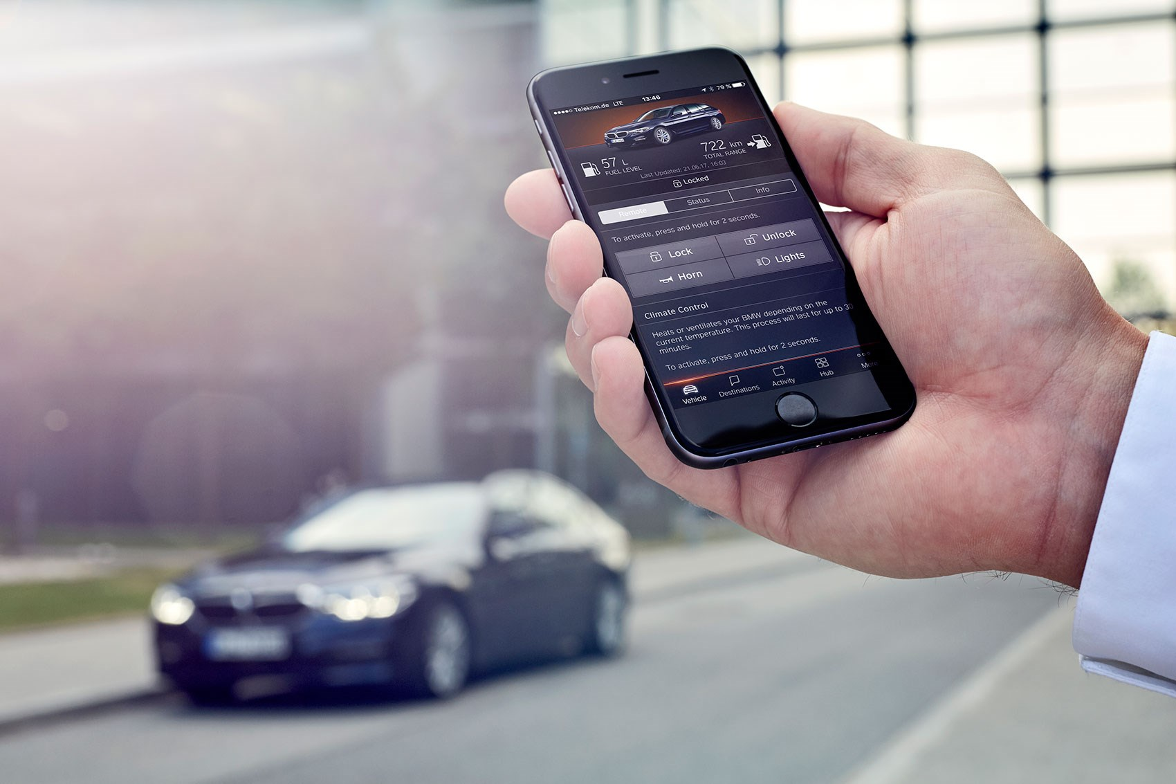 BMW Connected lets you warm your car or cool it from the comfort of your armchair