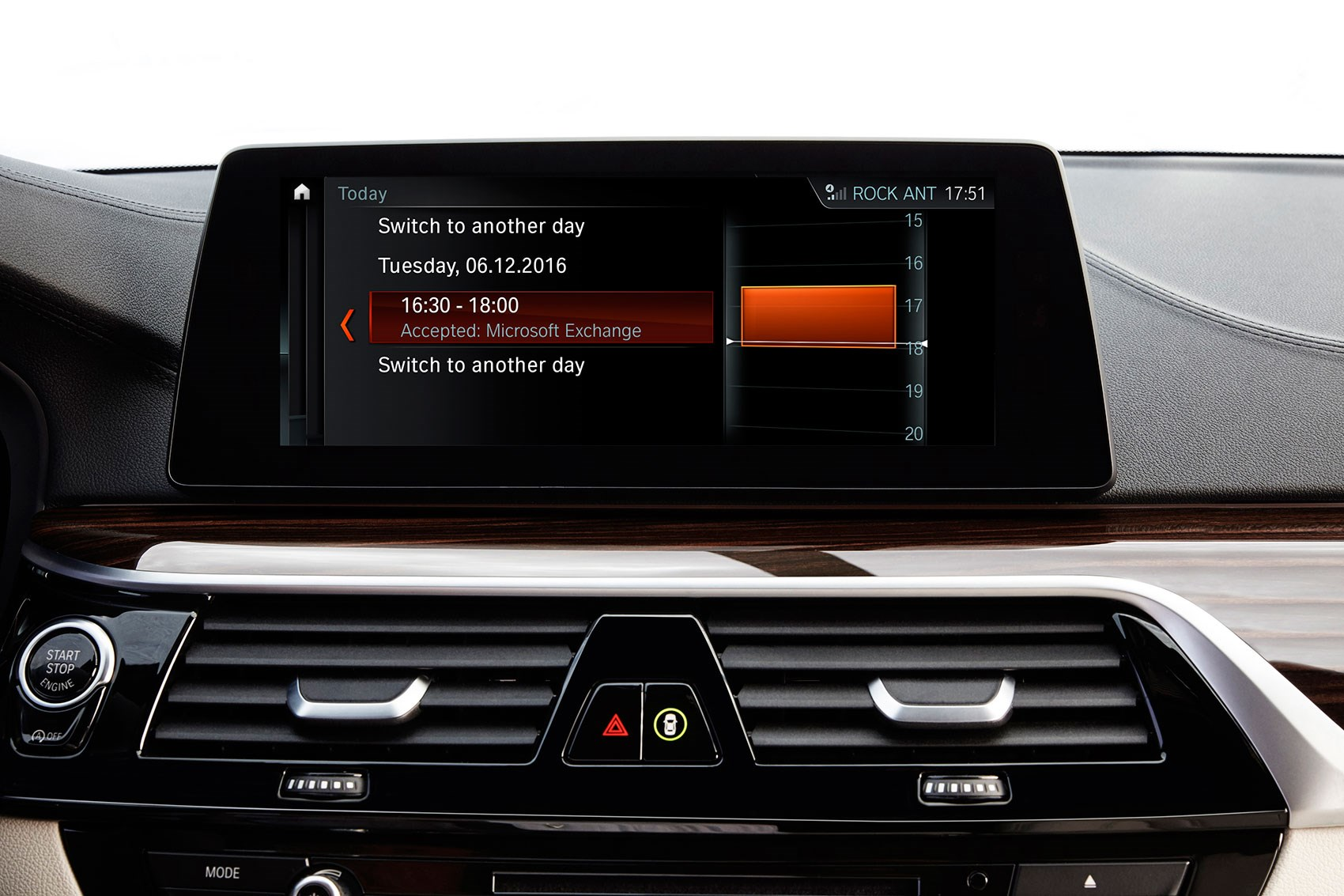 BMW Connected: syncs with your calendar