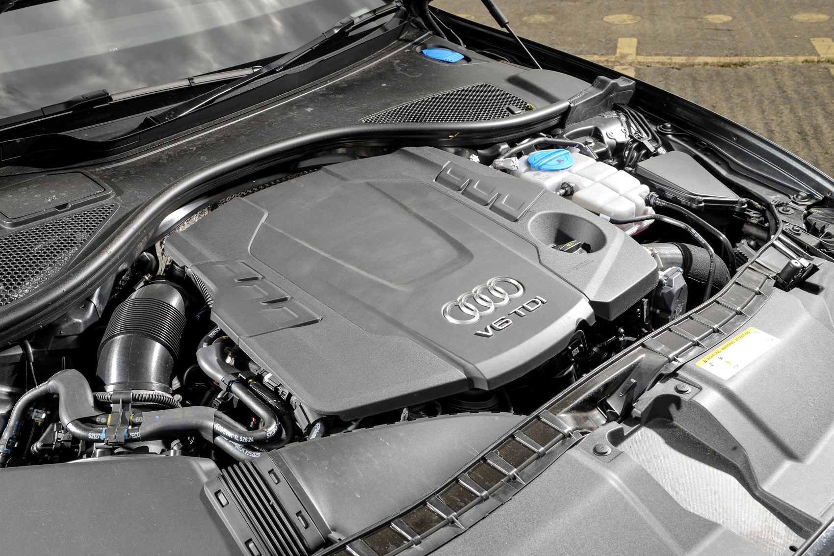 The A6's 3.0-litre TDI diesel engine might not look particularly interesting but its performance is startling
