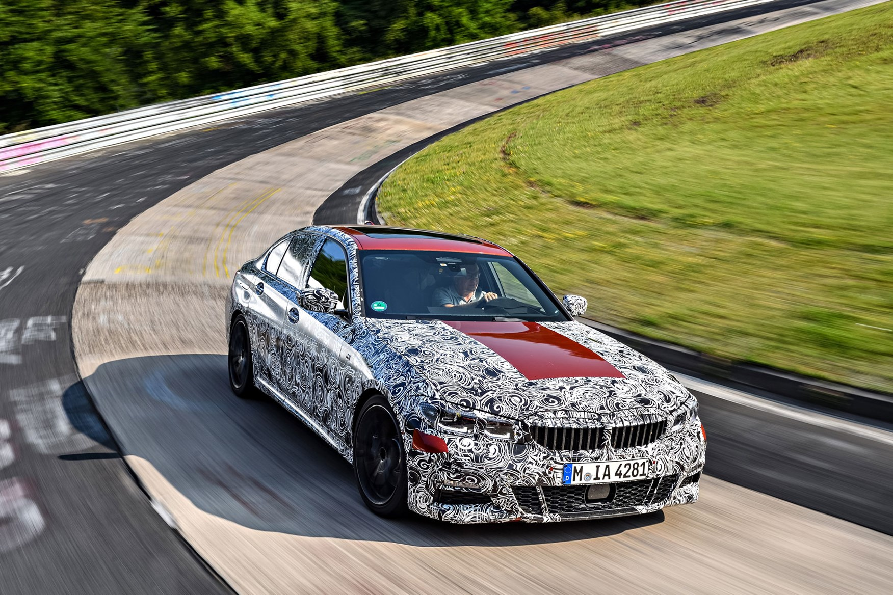BMW 3 Series 2019 tested on the Nurburgring
