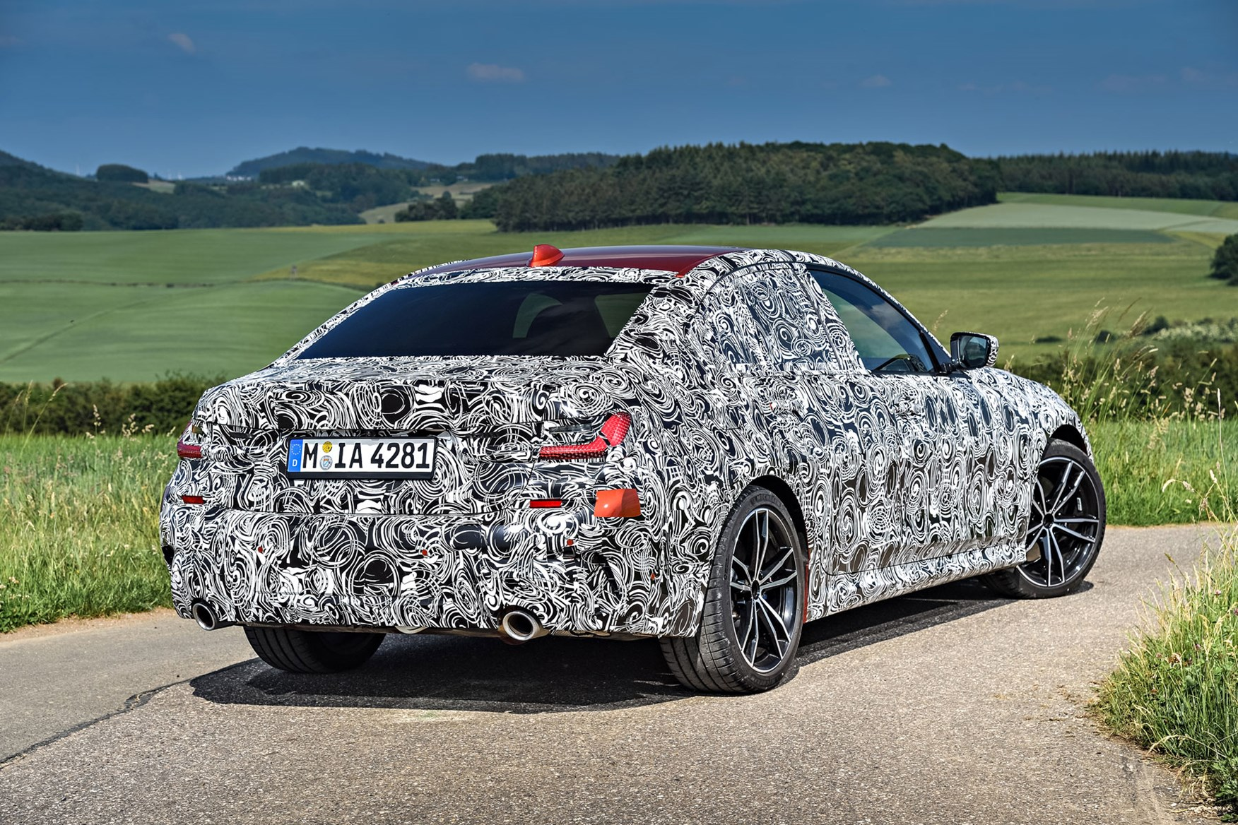 BMW 3 Series rear view disguised