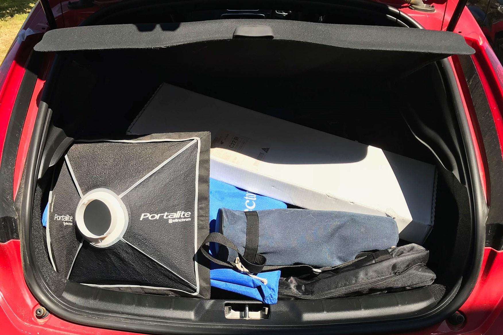2016 Volvo V40 D4 R Design large boot full of photographic equipment