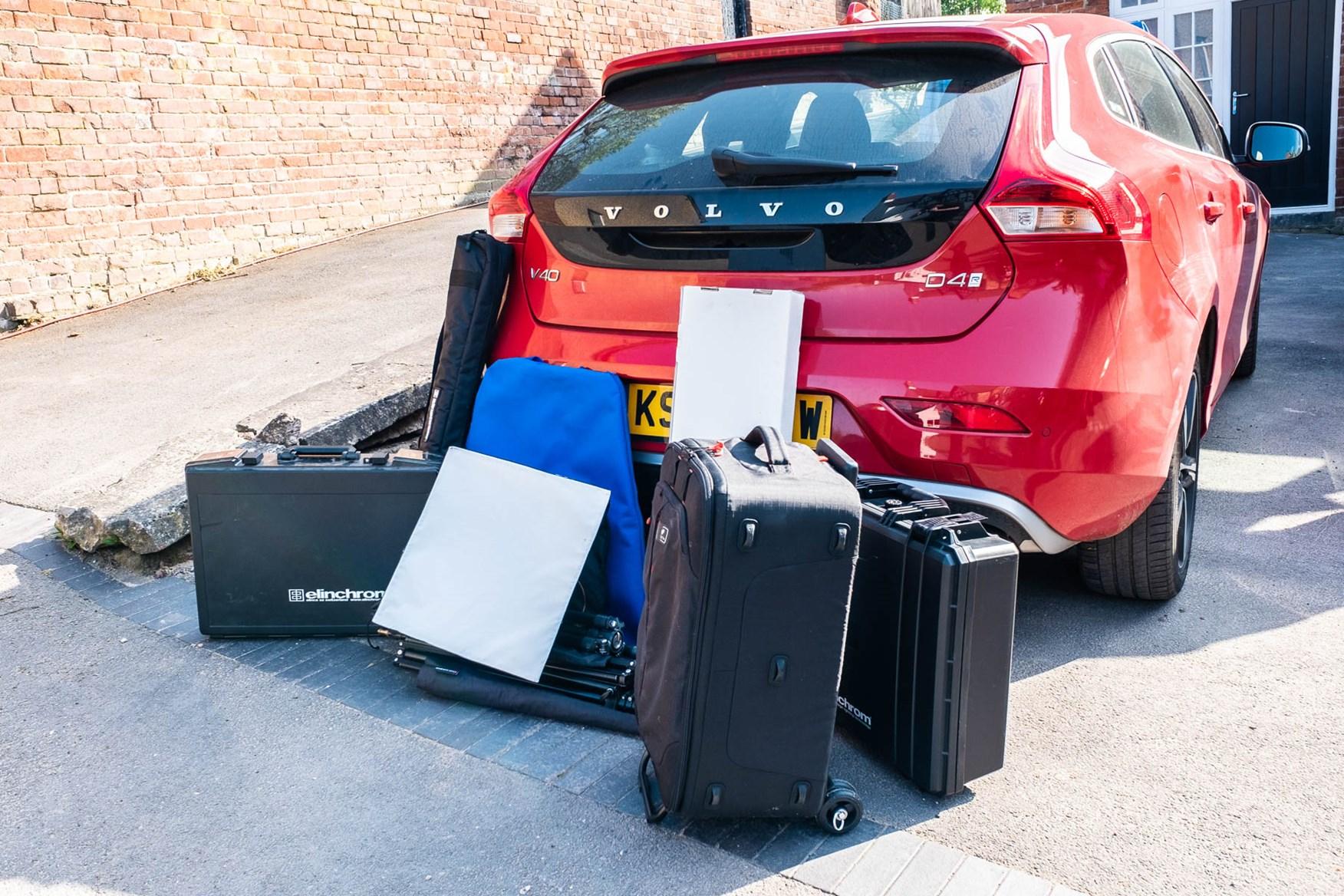Volvo V40 photographic kit unloaded