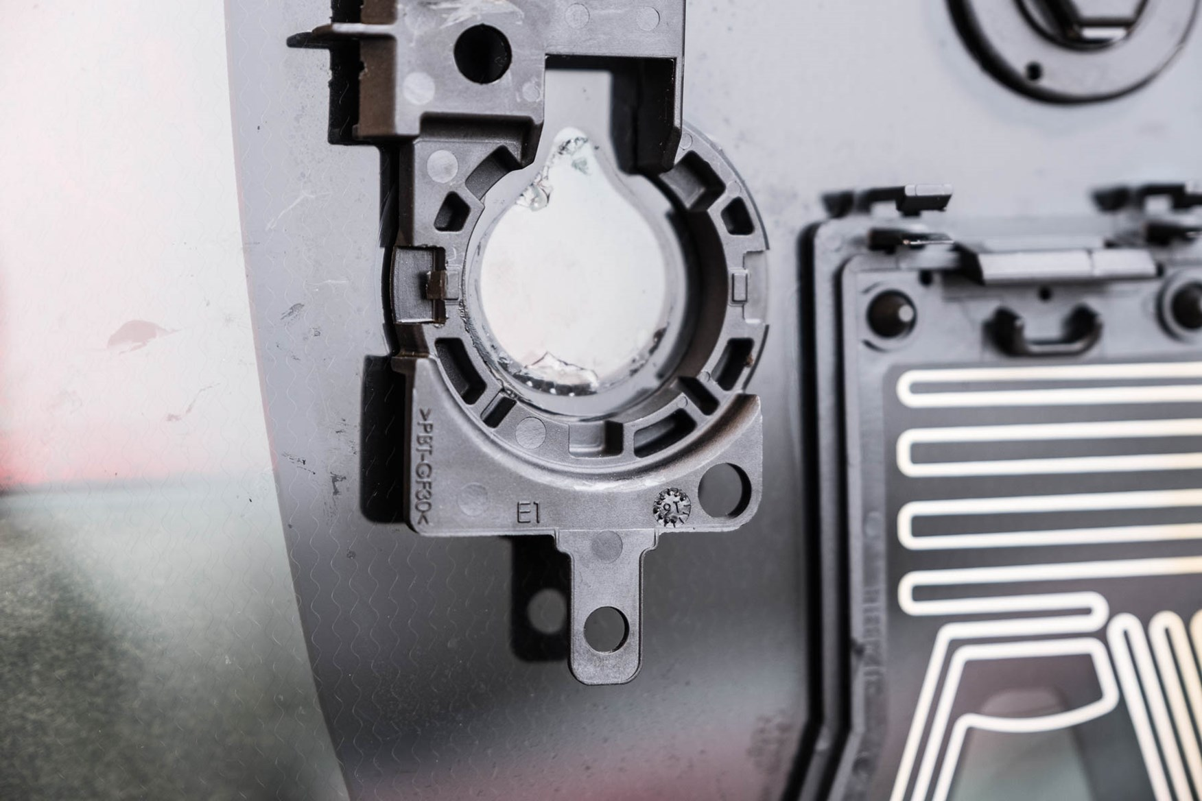 Residue on old sensor location
