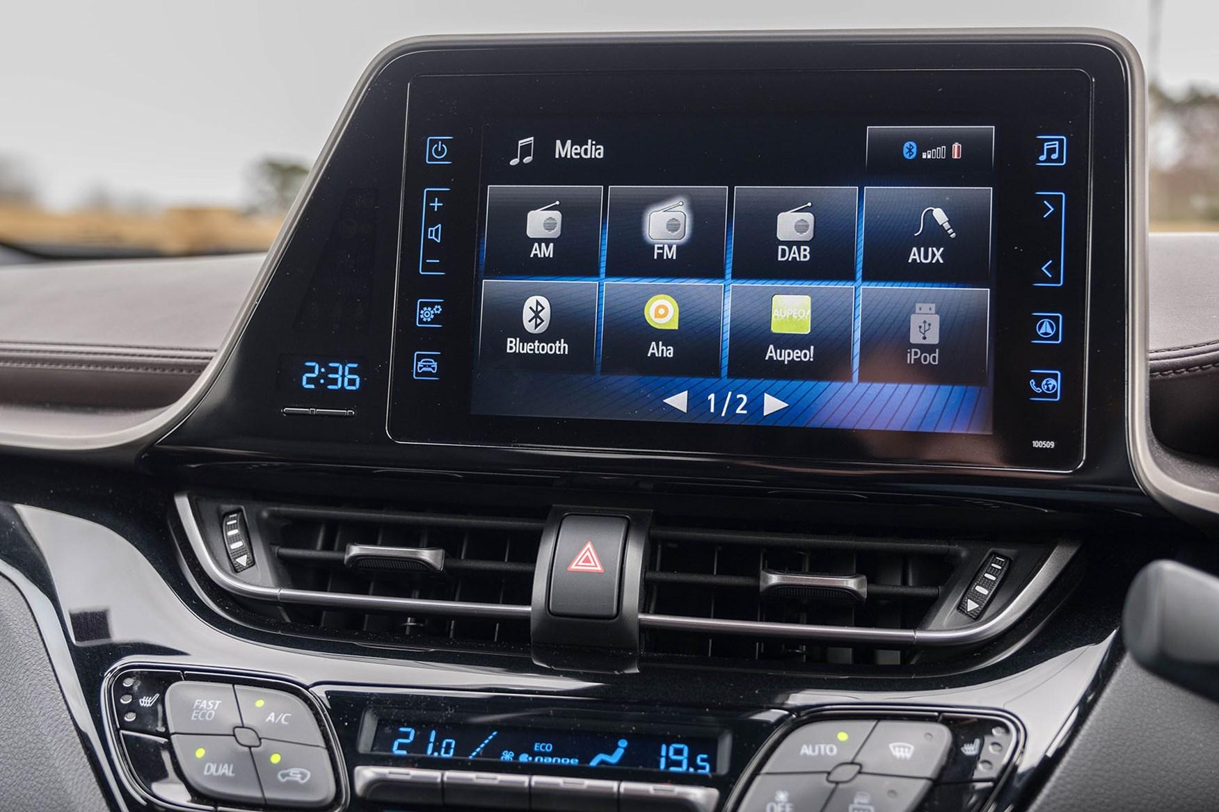 2017 Toyota C-HR infotainment display - white, Excel Hybrid