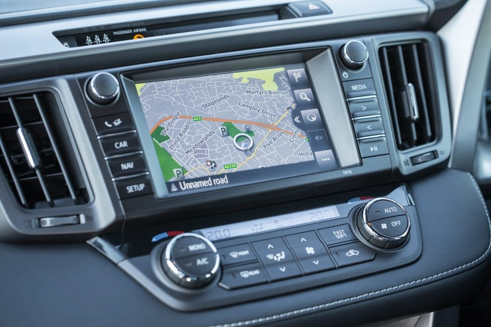 We prefer the physical controls on the RAV4's stereo to the touchscreen ones on the C-HR