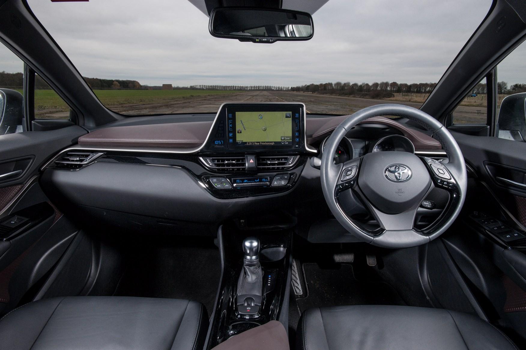 Toyota C-HR's cabin layout
