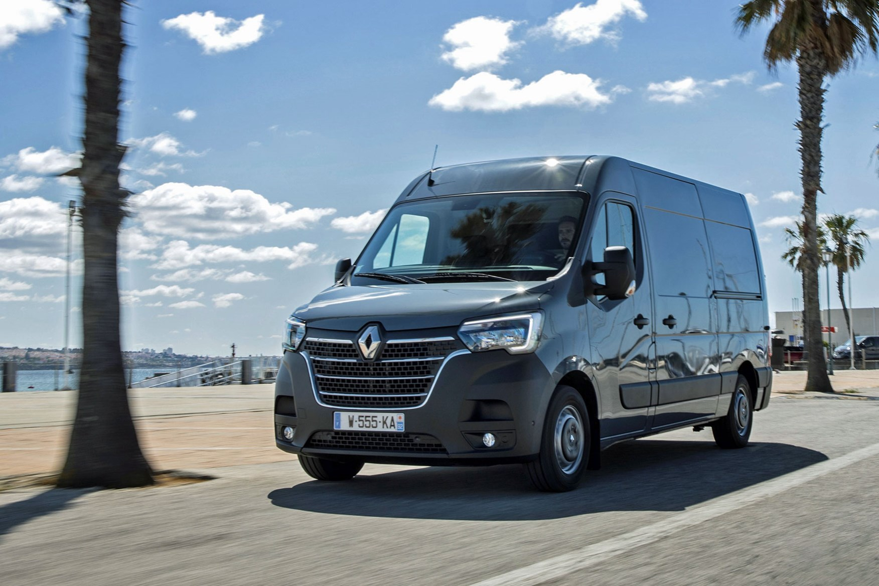 Renault Master review - 2019  facelift model, front view, grey, driving