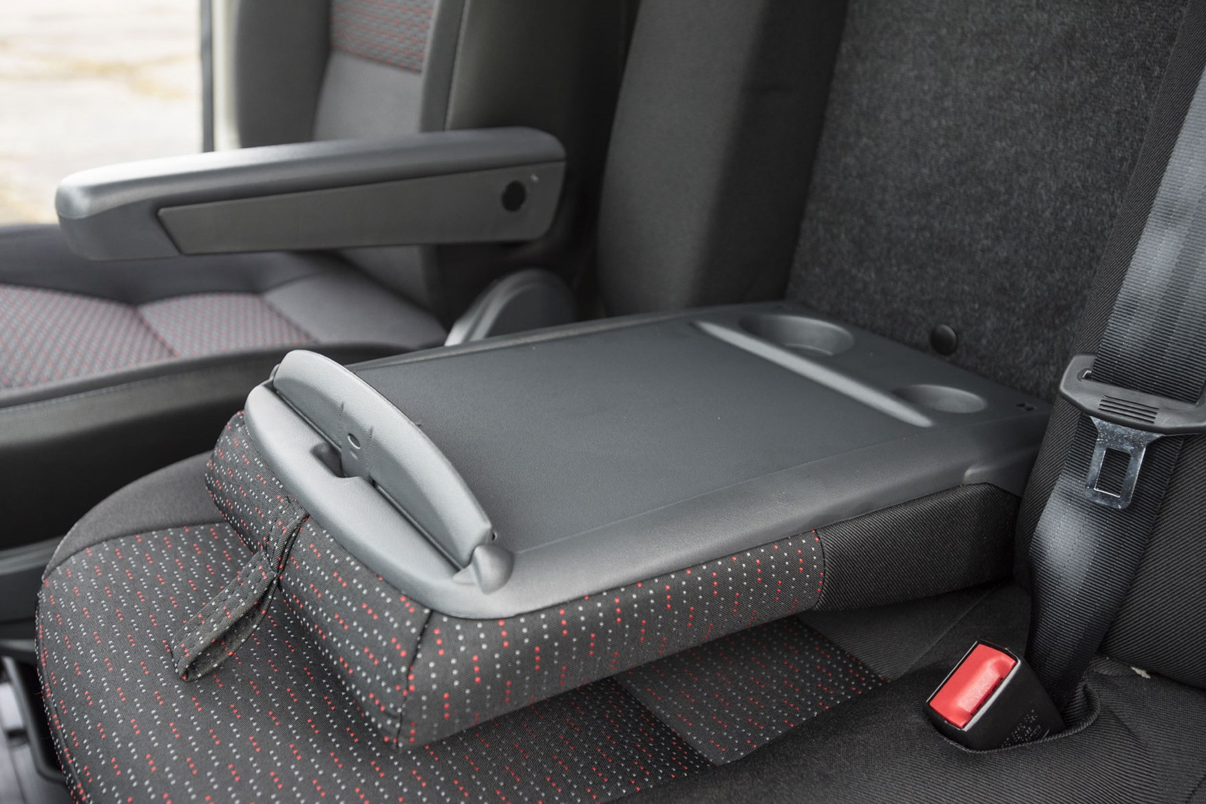Citroen Relay review - fold-down passenger seat back desk
