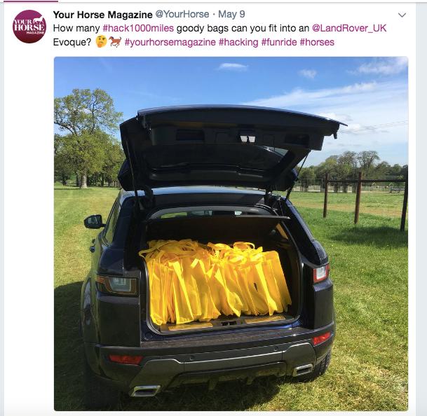 Range Rover Evoque on Your Horse Twitter