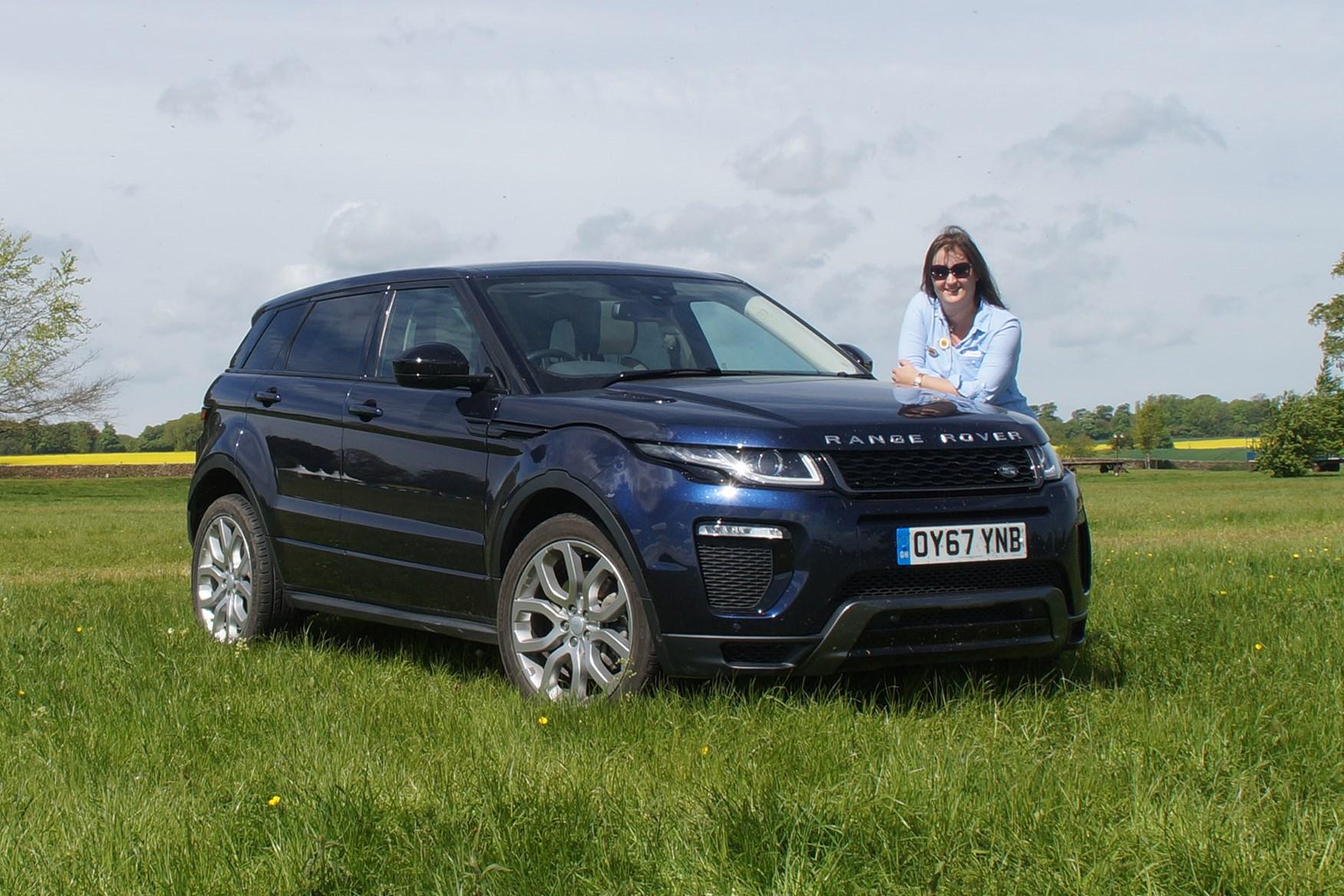 Range Rover Evoque with Aimi Clark