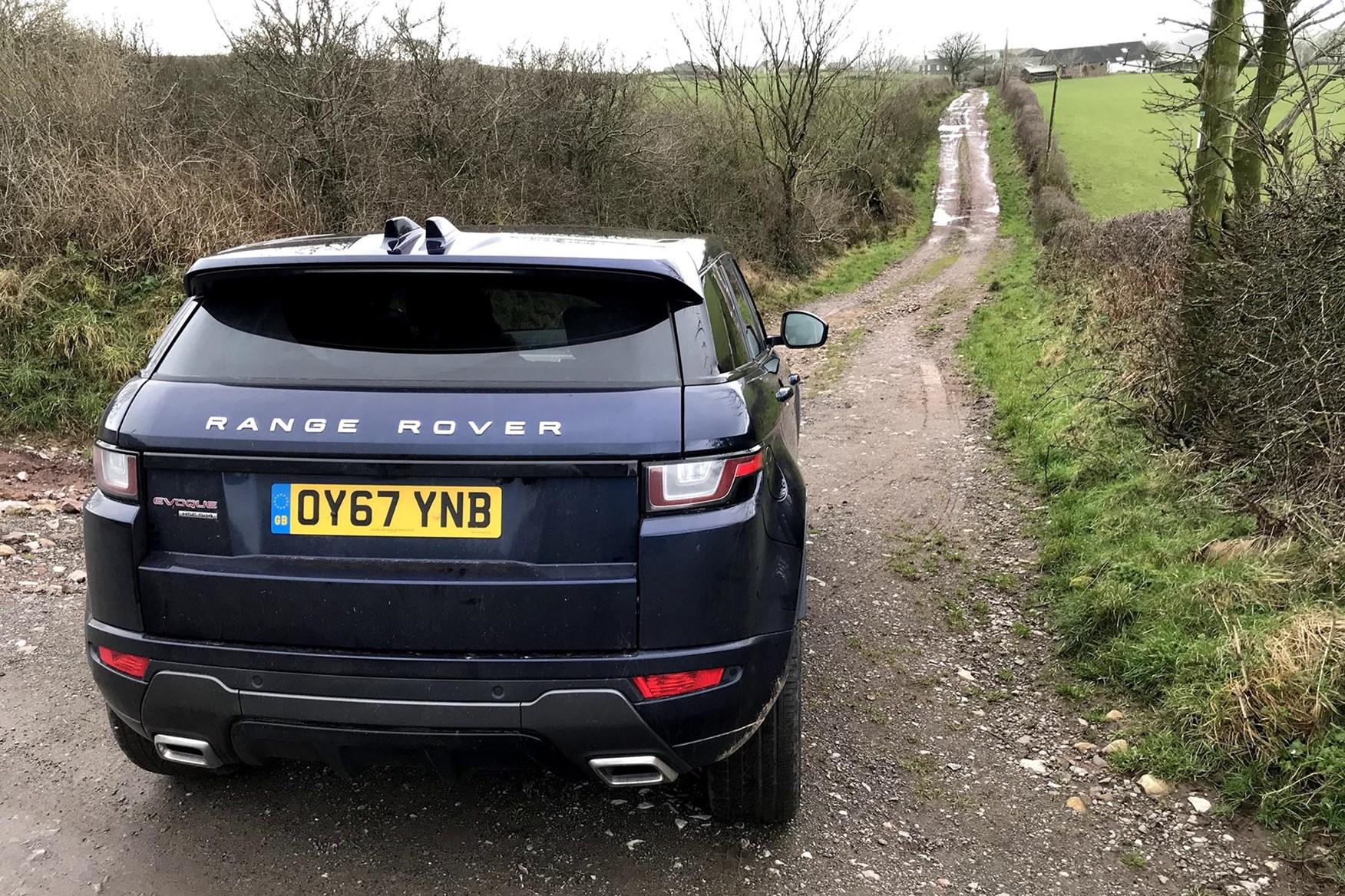 Range Rover Evoque on the lanes