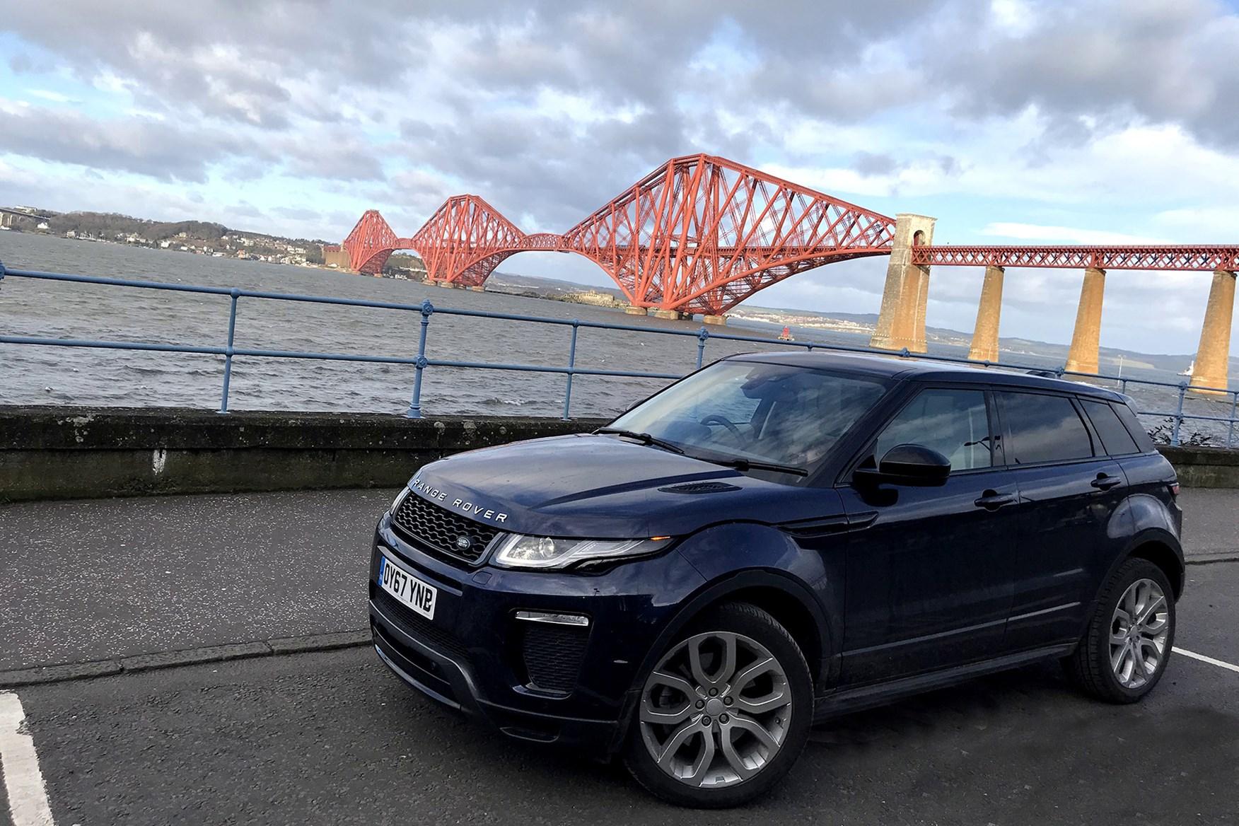 Range Rover Evoque at the Forth Bridge
