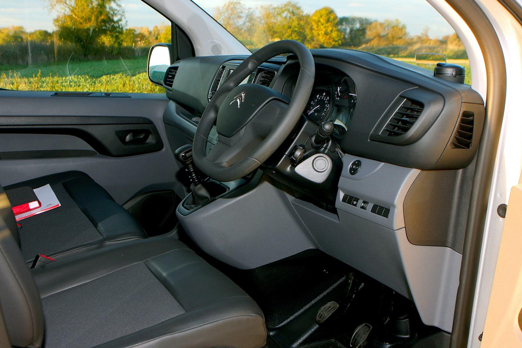 Citroen Dispatch review - cab interior