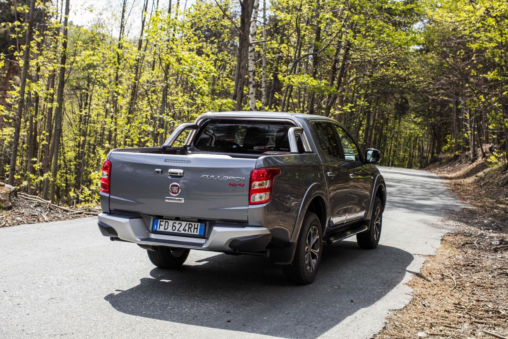 Fiat Fullback full review on Parkers Vans - rear