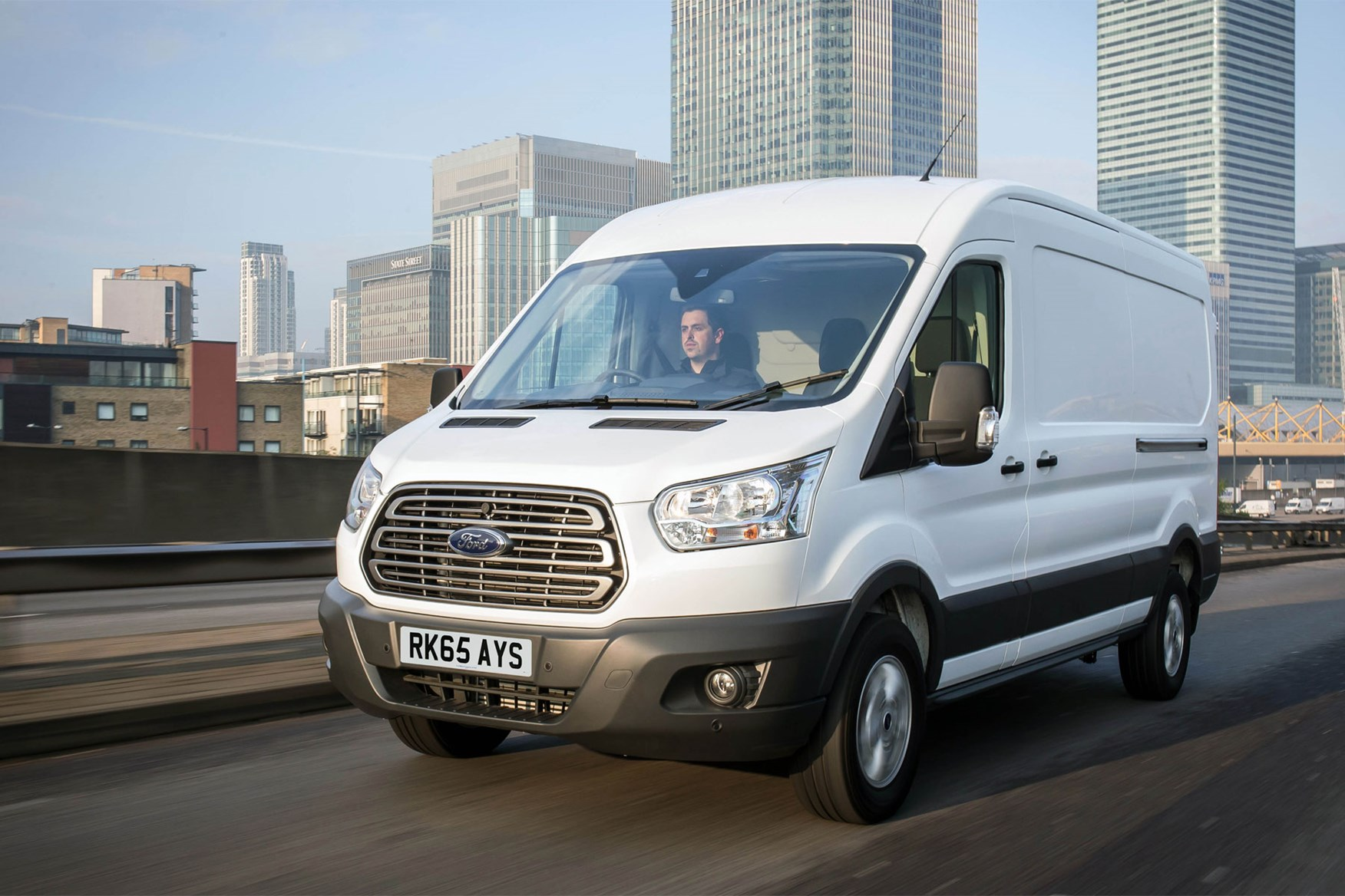 Ford Transit (2014-on) front view driving