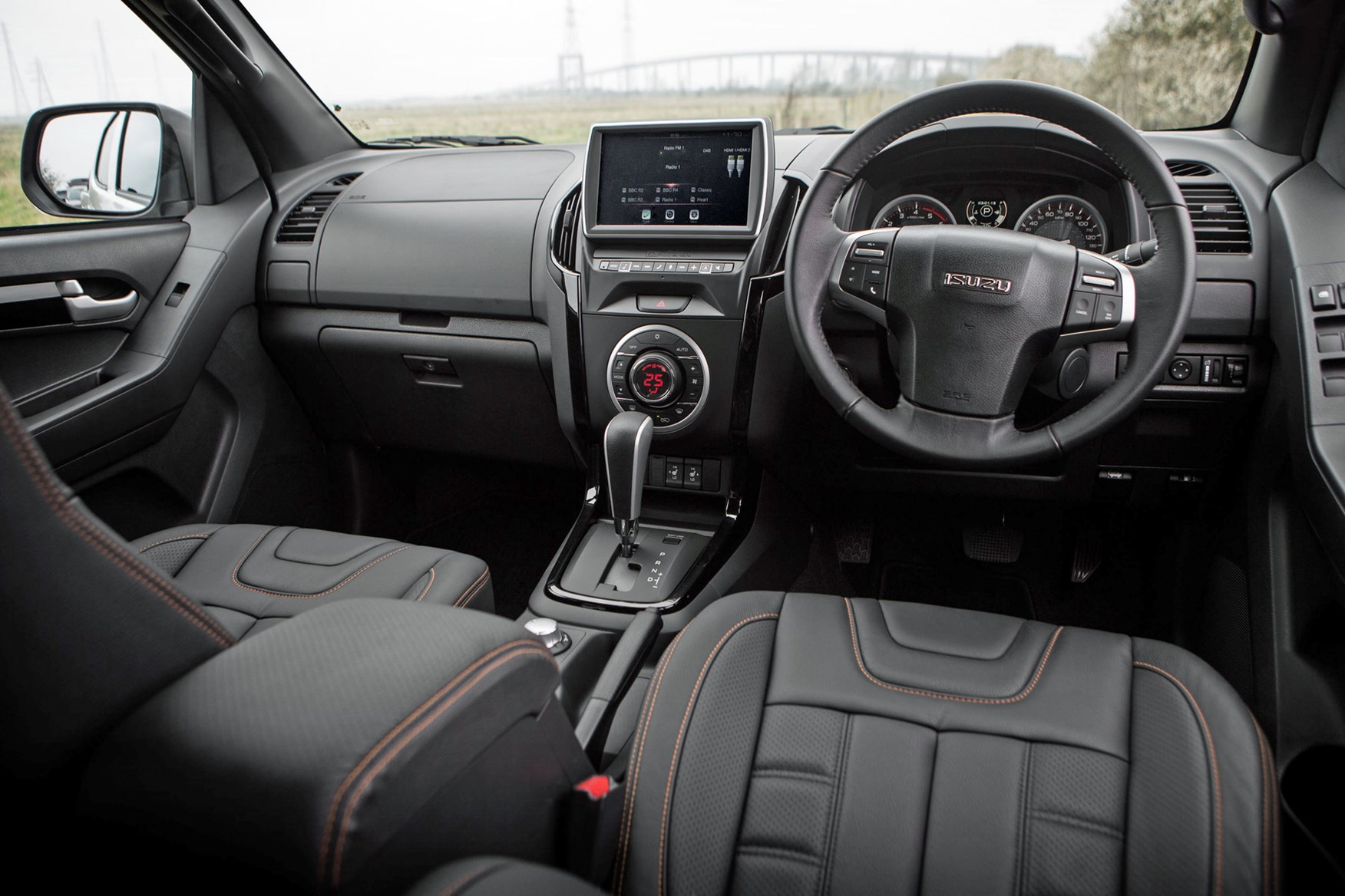 Isuzu D-Max Blade 1.9 review - cab interior including new integrated touchscreen infotainment system