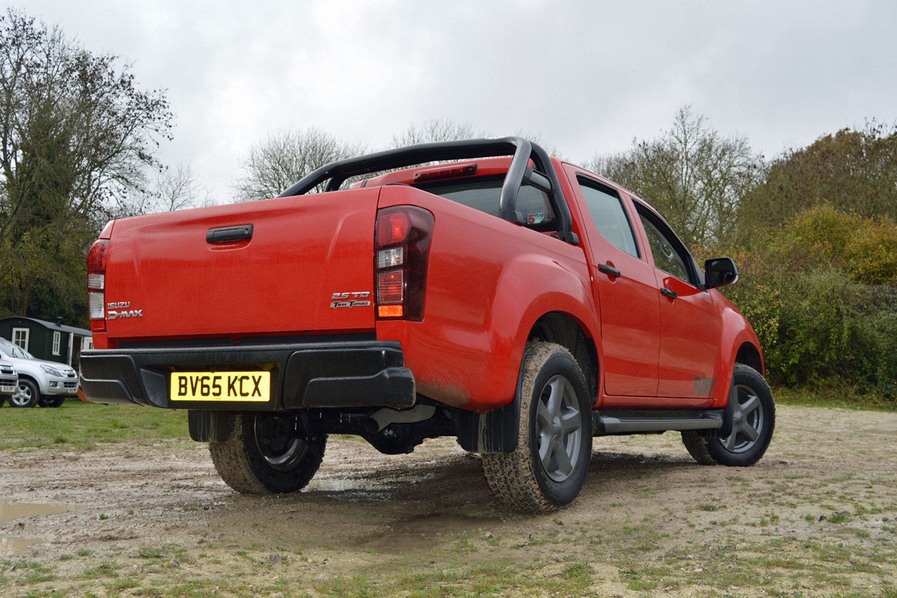 Isuzu D-Max Fury 2.5 review - rear view, red, tailgate open