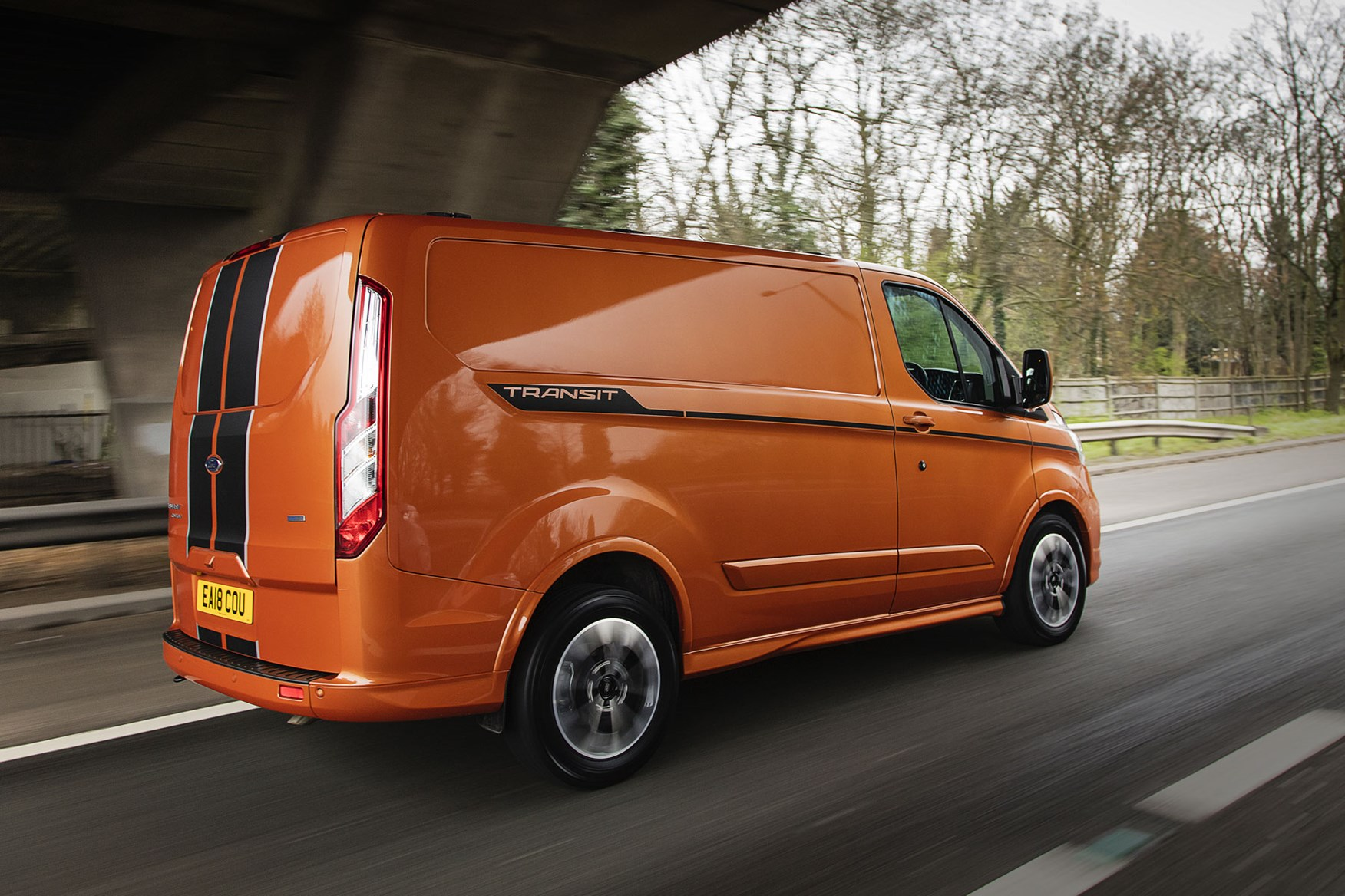 Ford Transit Custom review - 2018 post-facelift driving rear view