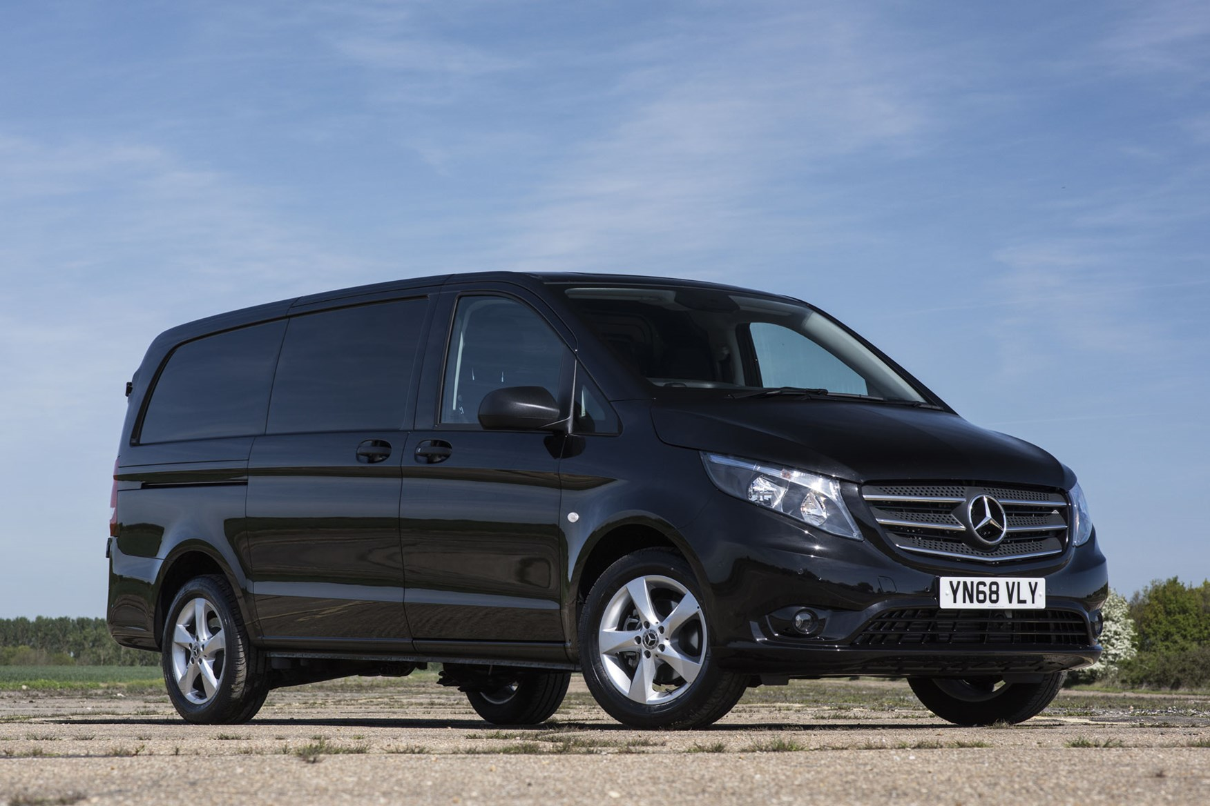 2019 Mercedes-Benz Vito Premium - black, front view
