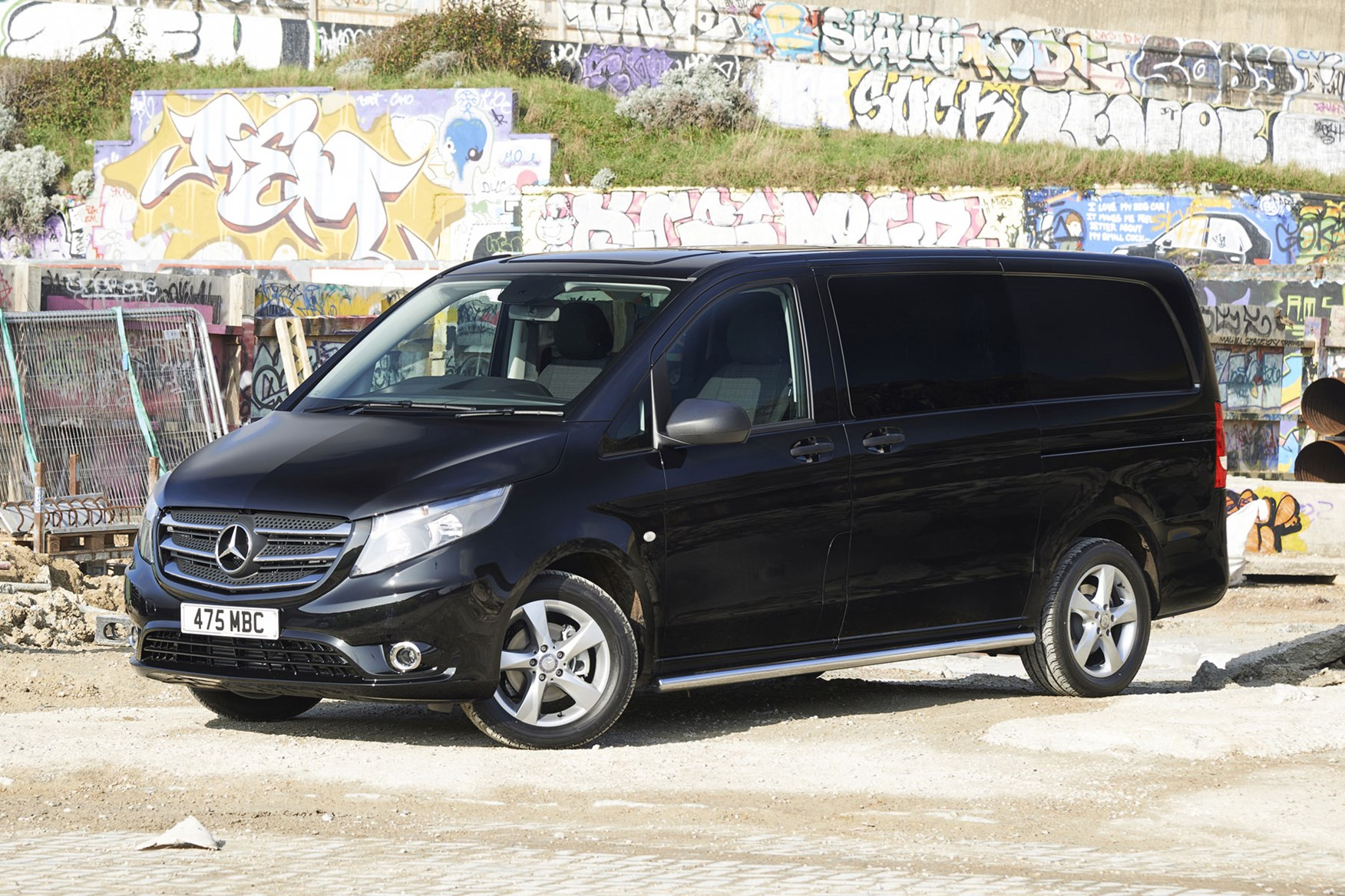 Mercedes-Benz Vito Sport review - front view, black
