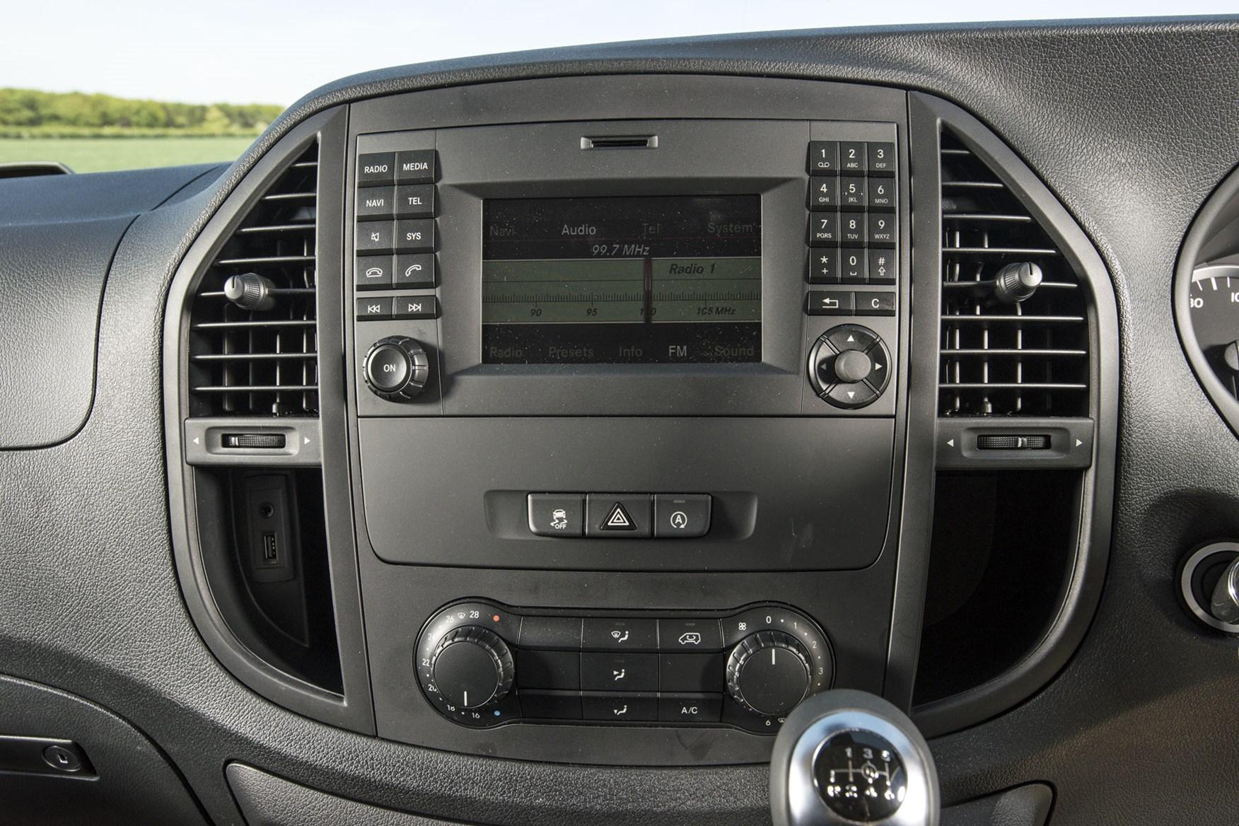 Mercedes Vito Premium review - Audio 15 infotainment system