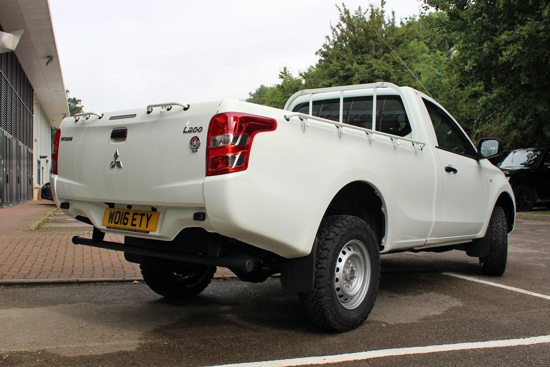 Mitsubishi L200 4Life Single Cab review - rear view, white