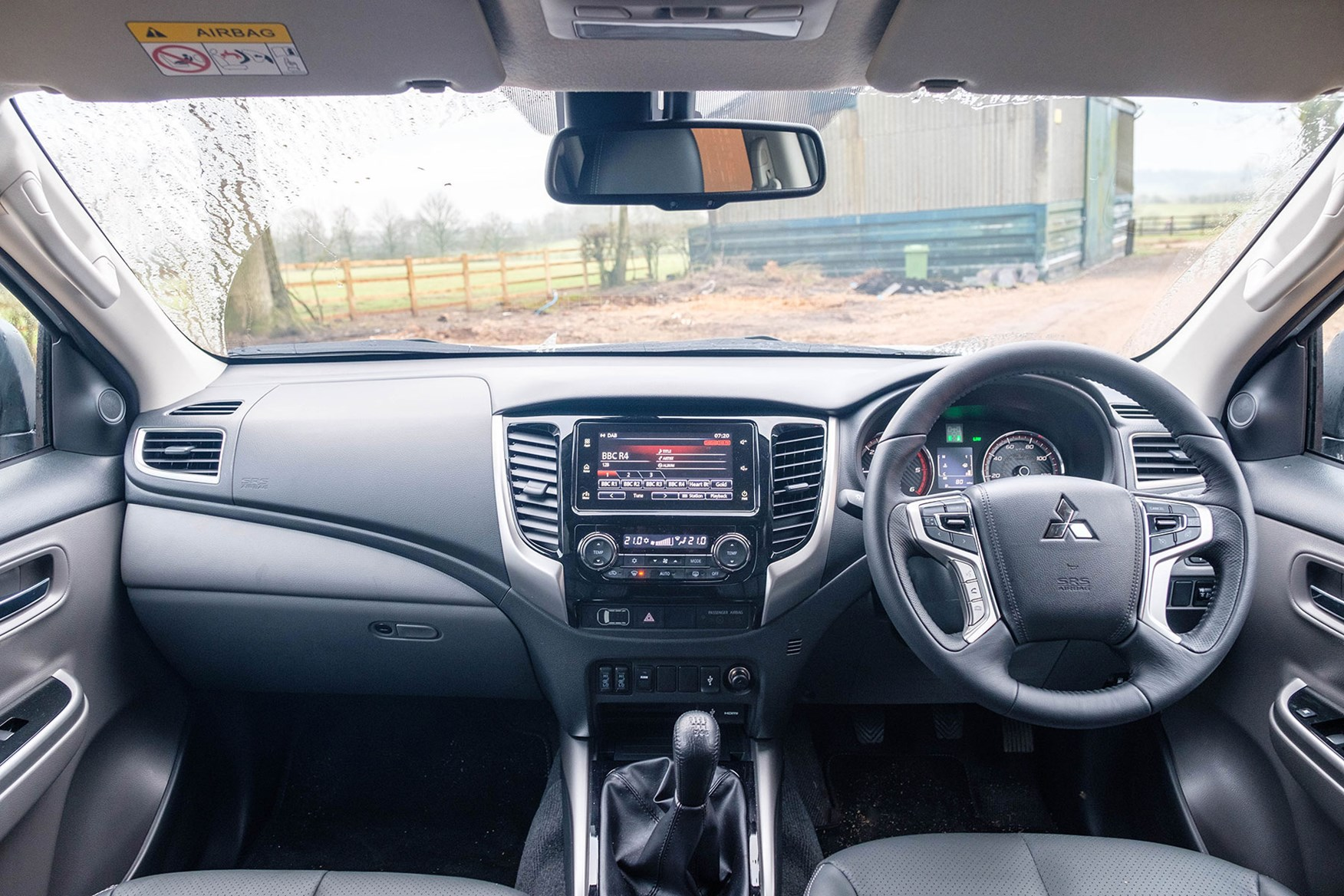 Mistubishi L200 Warrior 2018 review - cab interior with no infotainment system