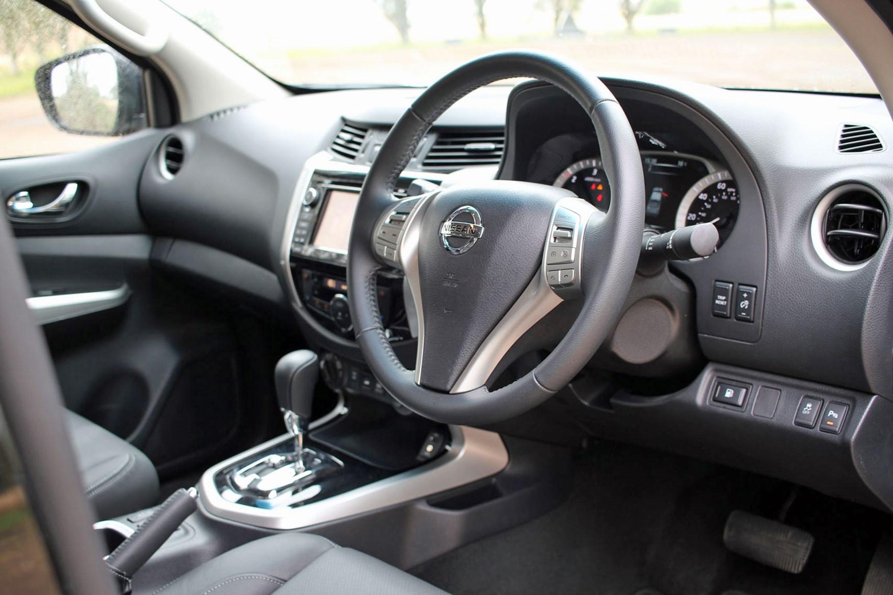 Nissan Navara Trek-1 review - cab interior, steering wheel, dashboard