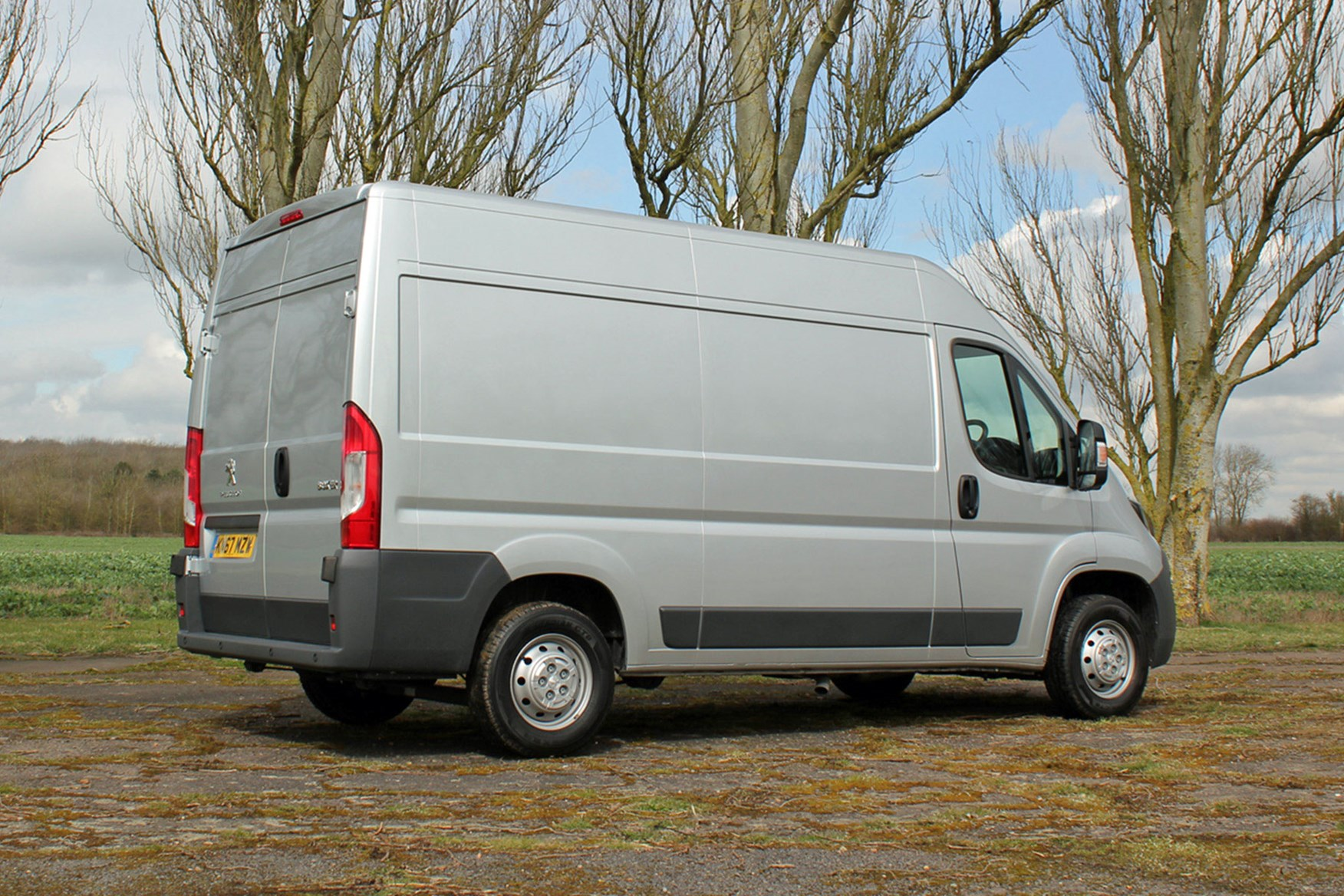 Peugeot Boxer review - rear view, silver