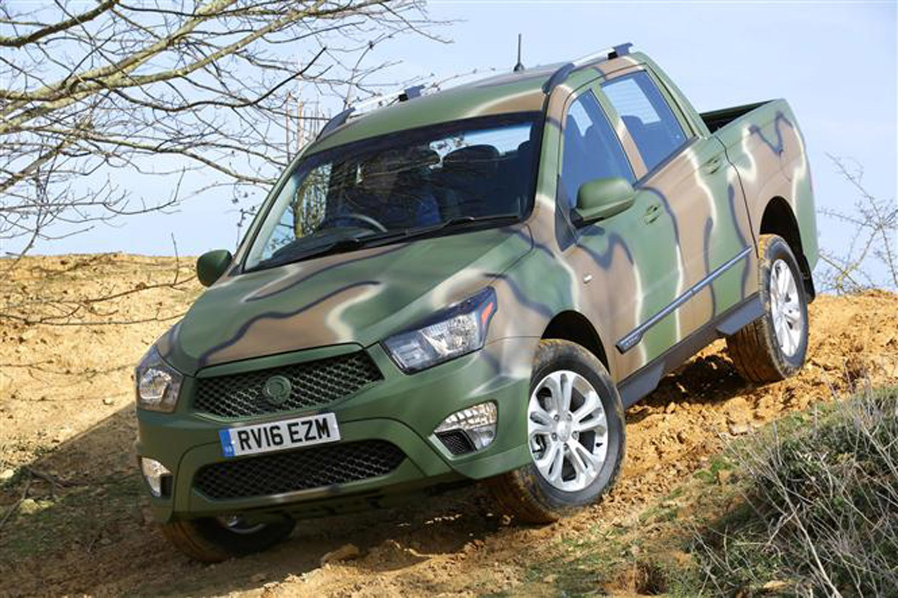 SsangYong Korando Sports review on Parkers Vans - DMZ edition exterior