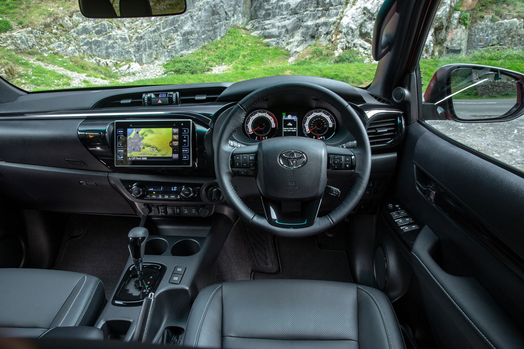 Toyota Hilux review - cab interior, steering wheel, dashboard