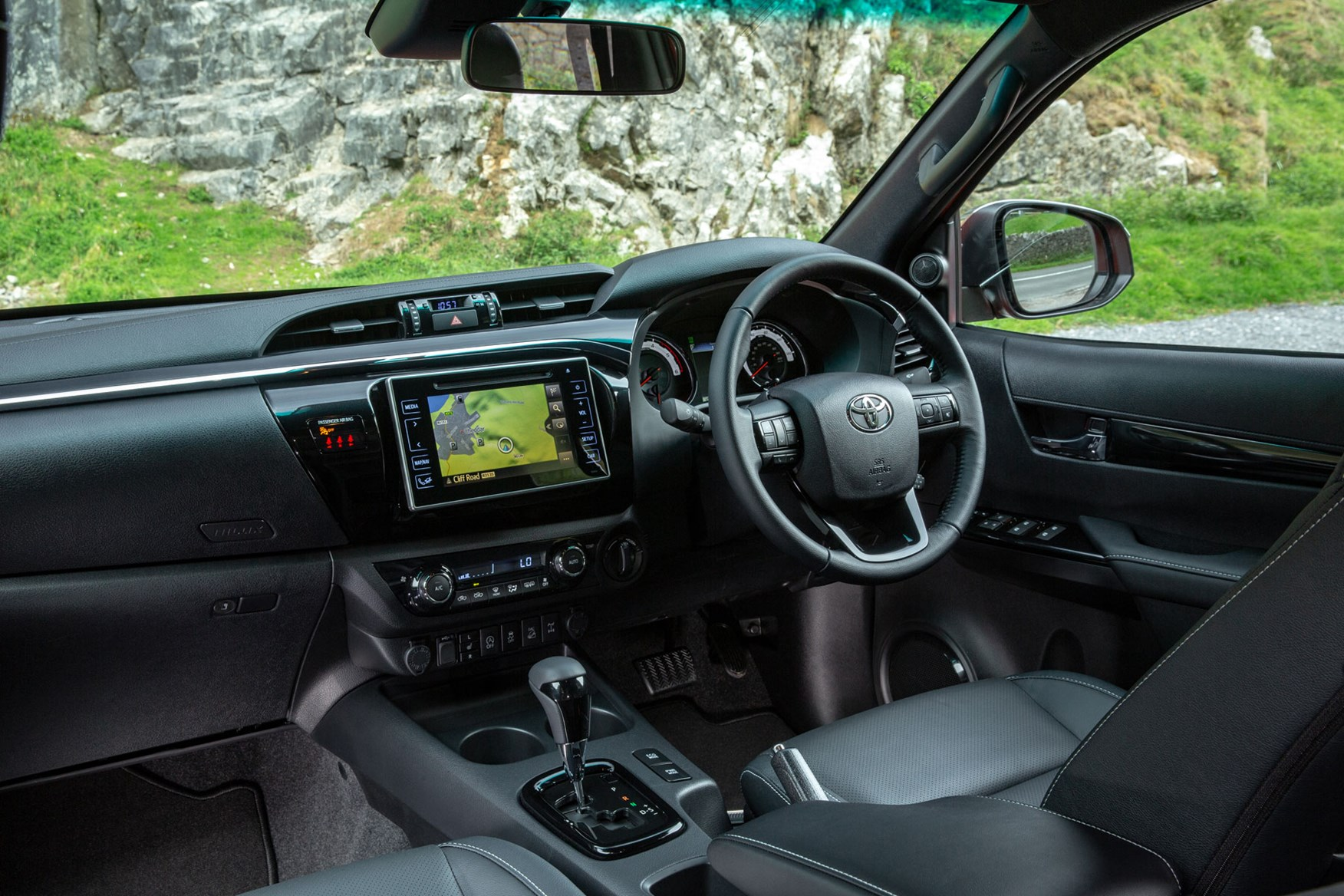 Toyota Hilux review - cab interior, dashboard, infotainment