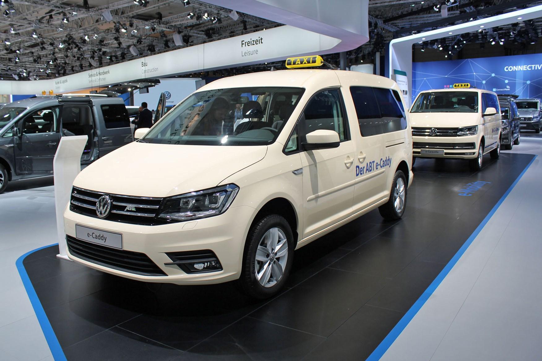 VW e-Caddy electric van on display at IAA 2018