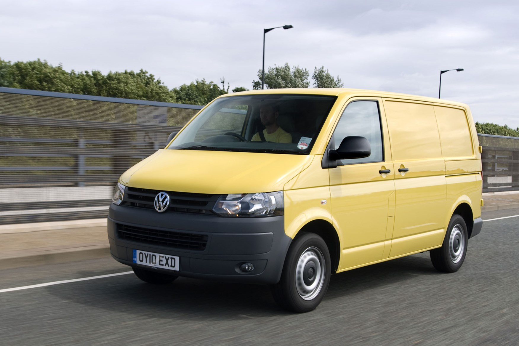 VW Transporter T5 (2010-2015) front view driving