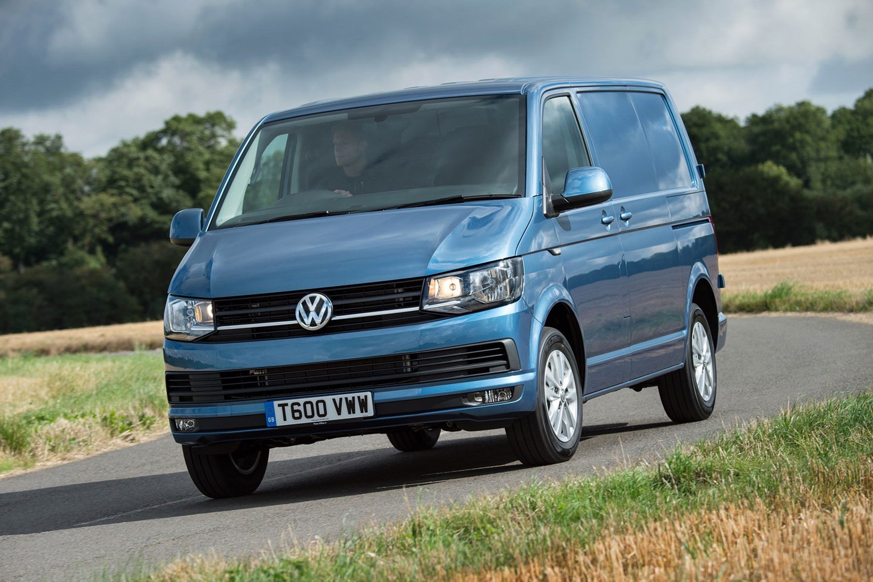 VW Transporter (2015-on) driving front view
